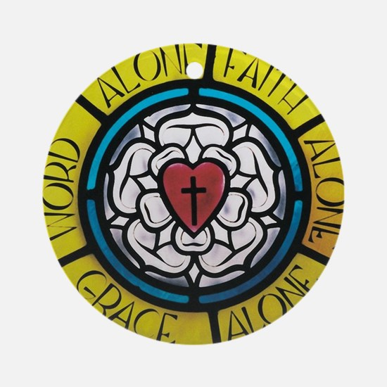 Luther's Rose Round Ornament