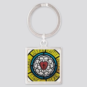 Luther's Rose Square Keychain