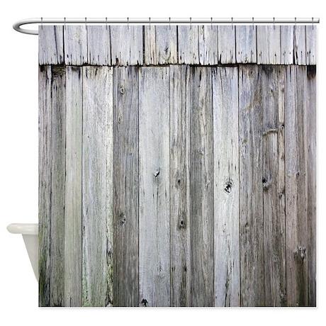 Weathered Rustic Barn Wood Shower Curtain By Rebeccakorpita