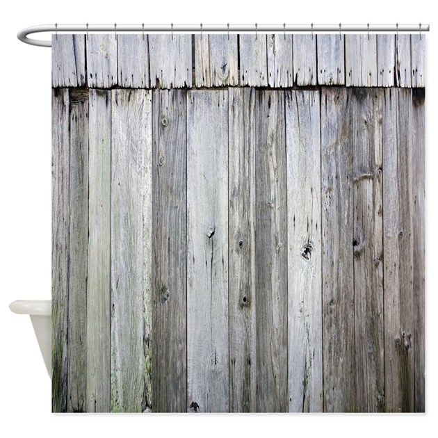 Weathered Rustic Barn Wood Shower Curtain By Rebeccakorpita