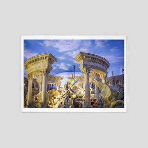 caesar statue ancient romans art 5'x7'Area Rug