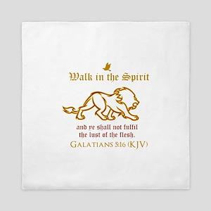 Walk in the Spirit Queen Duvet