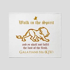 Walk in the Spirit Throw Blanket