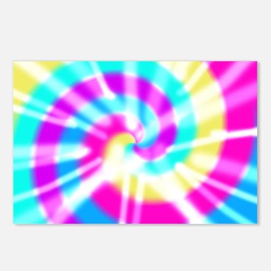 Tye Dye Pattern Postcards (Package of 8)
