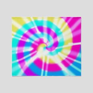 Tye Dye Pattern Throw Blanket