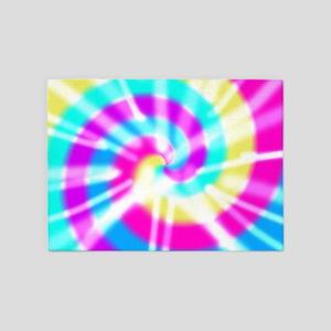 Tye Dye Pattern 5'x7'Area Rug