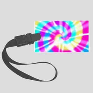 Tye Dye Pattern Large Luggage Tag
