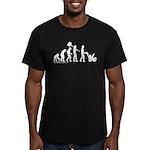 Snowblower Evolution Men's Fitted T-Shirt (dark)
