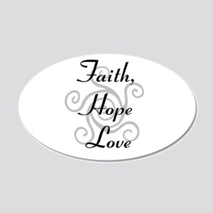 Faith, Hope,Love Wall Decal
