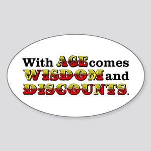 Senior Citizen Humor Sticker (Oval)