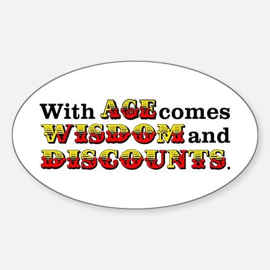 Senior Citizen Humor Sticker (Oval)