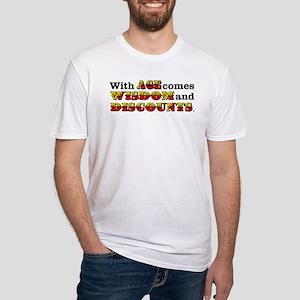 Senior Citizen Humor Fitted T-Shirt