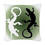 Lizard Art Woven Throw Pillow