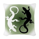 Lizard Art Woven Throw Pillow