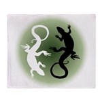 Lizard Art Throw Blanket