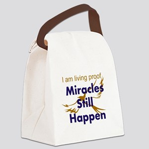 Miracles Still Happen Canvas Lunch Bag