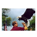 Postcards (8) of Mike & Thunder the Bald Eagle