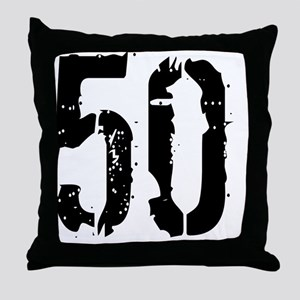 Grunge 50 Style 3 Throw Pillow
