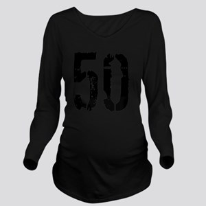 Grunge 50 Style 3 Long Sleeve Maternity T-Shirt
