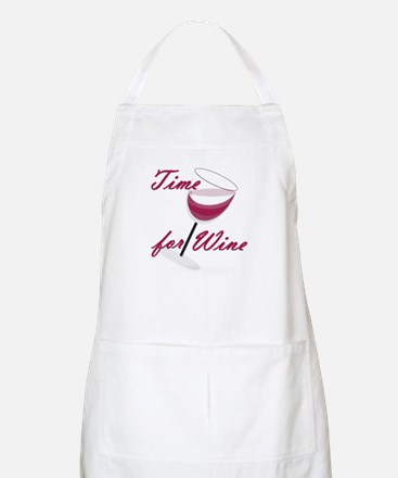 Time for Wine BBQ Apron