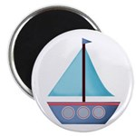 Blue Sailboat Magnets