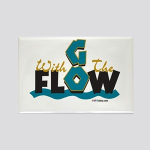 Go With the Flow Rectangle Magnet