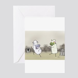 Zombie Sheep Greeting Cards