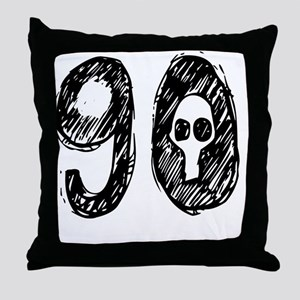 90 Year Skull  Throw Pillow