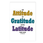 Attitude of Gratitude Postcards (Package of 8)