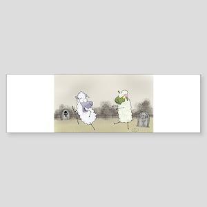 Zombie Sheep Bumper Sticker