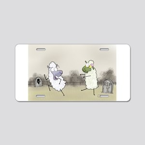 Zombie Sheep Aluminum License Plate