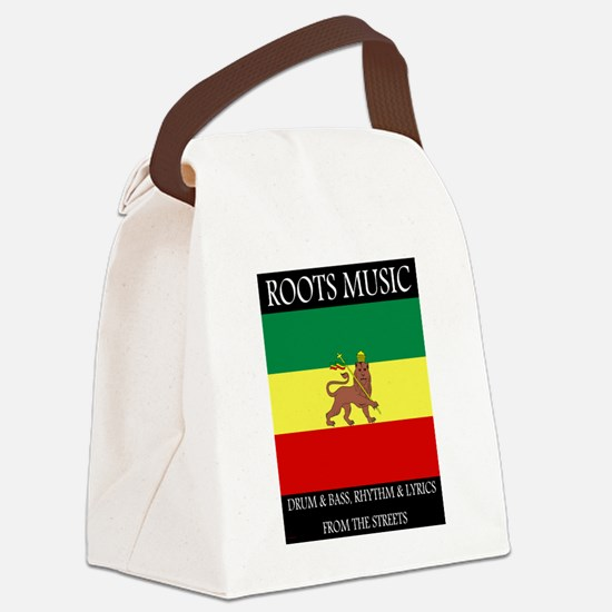 Roots-Music-Flag-Ethiopia-iPad.pn Canvas Lunch Bag
