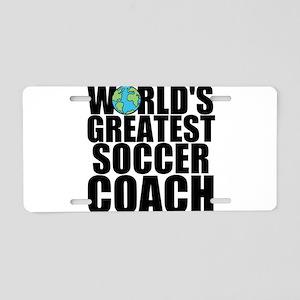 World's Greatest Soccer Coach Aluminum License