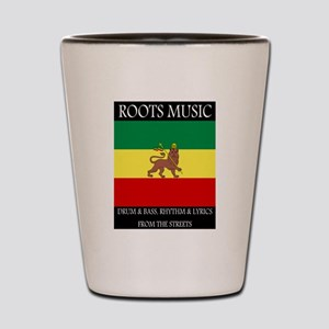 Roots-Music-Flag-Ethiopia-iPad Shot Glass