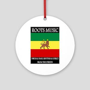 Roots-Music-Flag-Ethiopia-iPad.pn Ornament (Round)