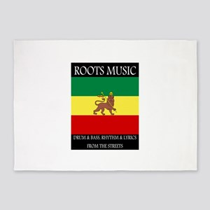 Roots-Music-Flag-Ethiopia-iPad 5'x7'Area Rug
