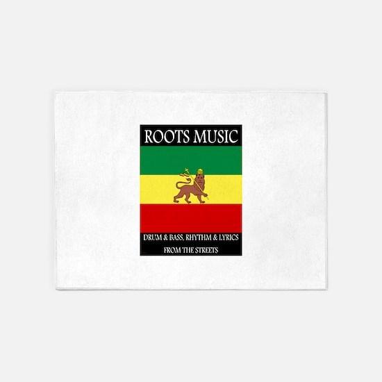 Roots-Music-Flag-Ethiopia-iPad.png 5'x7'Area Rug