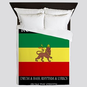 Roots-Music-Flag-Ethiopia-iPad Queen Duvet