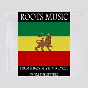Roots-Music-Flag-Ethiopia-iPad Throw Blanket
