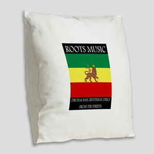 Roots-Music-Flag-Ethiopia-iPad Burlap Throw Pillow