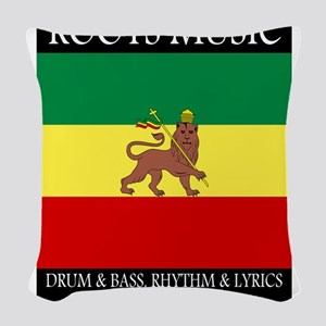 Roots-Music-Flag-Ethiopia-iPad Woven Throw Pillow