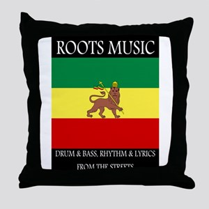 Roots-Music-Flag-Ethiopia-iPad Throw Pillow