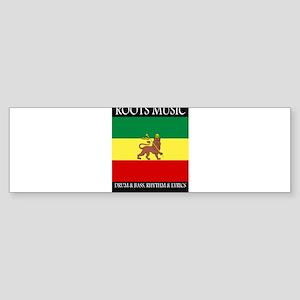 Roots-Music-Flag-Ethiopia-iPad Bumper Sticker