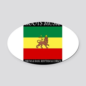 Roots-Music-Flag-Ethiopia-iPad Oval Car Magnet