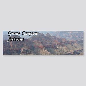Grand Canyon, Arizona 2 (with capti Bumper Sticker