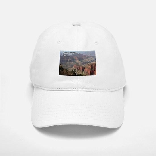 Grand Canyon, Arizona 2 (with caption) Baseball Baseball Cap