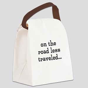 on the road less traveled Canvas Lunch Bag