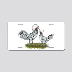 Polish Splash Chickens Aluminum License Plate