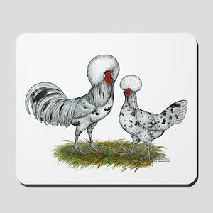 Polish Splash Chickens Mousepad