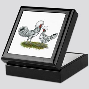 Polish Splash Chickens Keepsake Box